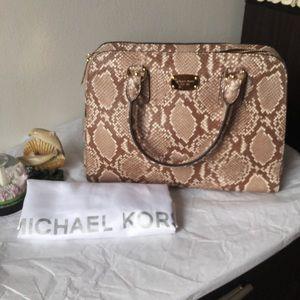 Michael Michael kor snake print bag